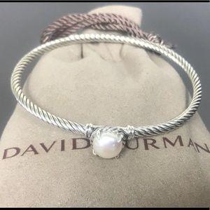 David Yurman 3mm Chatelaine Bracelet Pearl